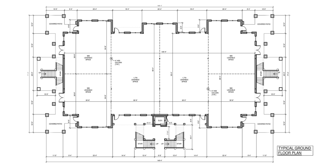Office Complex Office or Medical Space | Floor Plan | Olive Chapel Professional Park